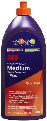 3M Perfect It Gelcoat medium Cutting compound + wax