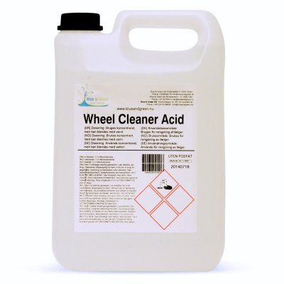 Blue & Green Wheel Cleaner Acid 5L
